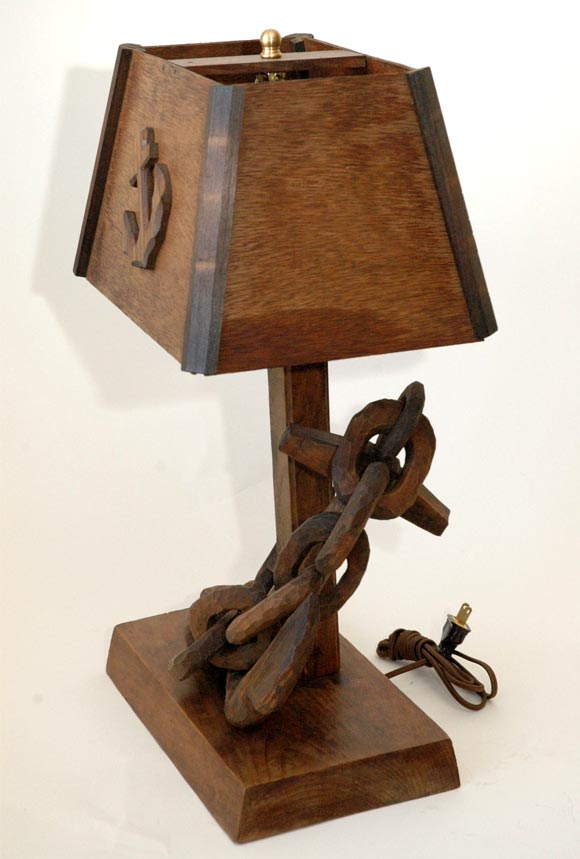 Marine table lamp with anchor and chain at 1stdibs for Table 6 usmc
