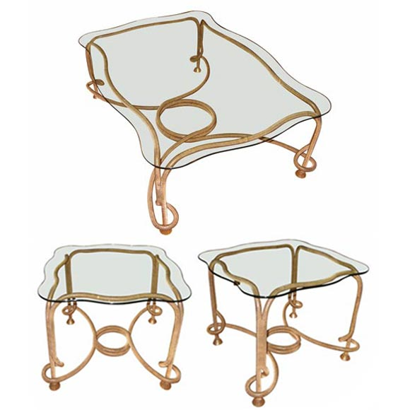 One coffee table and two matching end tables from spain at 1stdibs Matching coffee table and end tables