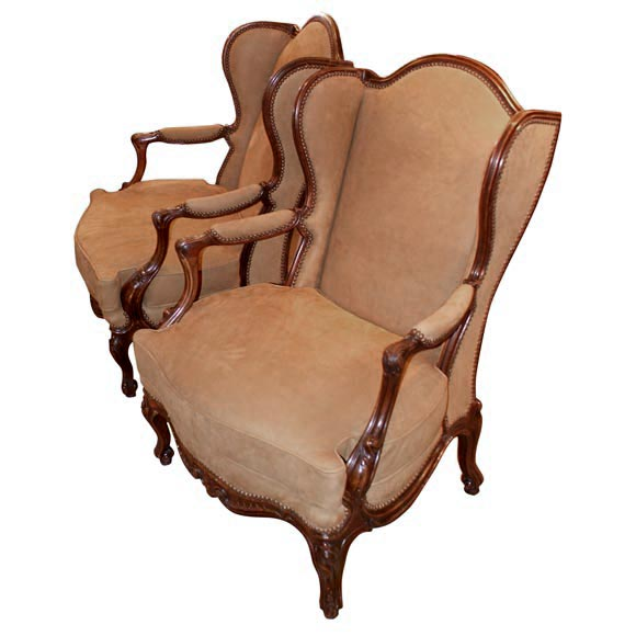 Large pair of arm chairs at stdibs