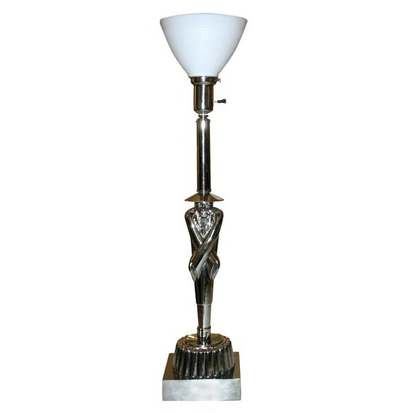 Colonial Table Lamps : Colonial premier moderne chinaman table lamp at stdibs