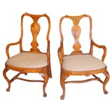 Pair of 18th Century Continental Armchairs