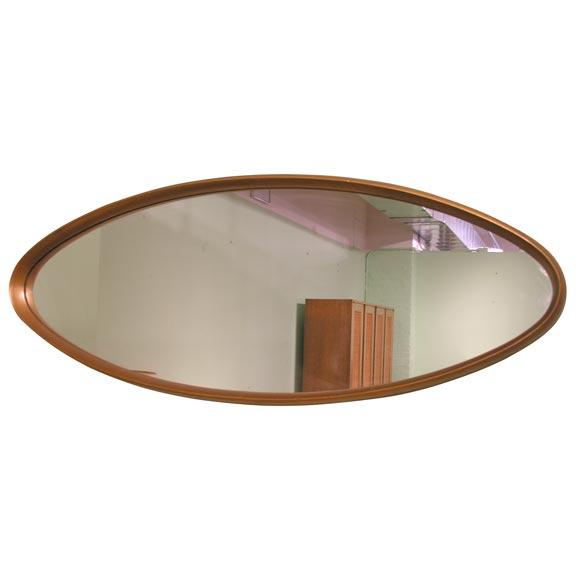 Glamorous Giltwood Oval Mirror