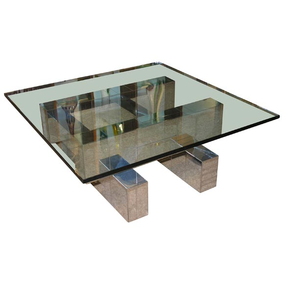 Architectural coffee table designed by paul evans at 1stdibs for Architectural coffee table