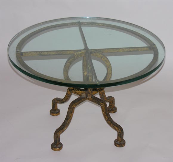 gilt iron round coffee table at 1stdibs