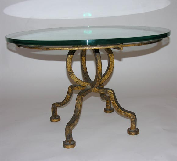 Gilt Iron Round Coffee Table At 1stdibs