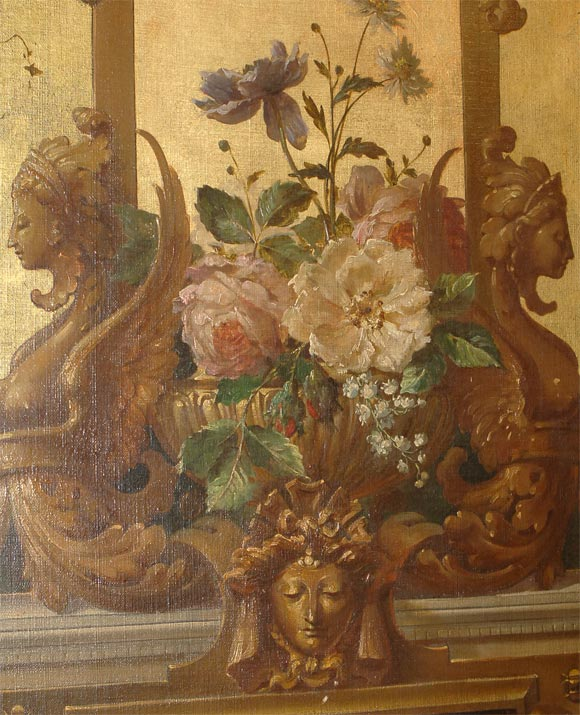 Canvas 19th Century Beaux Arts Style Still Life Painting, European, 19th Century For Sale