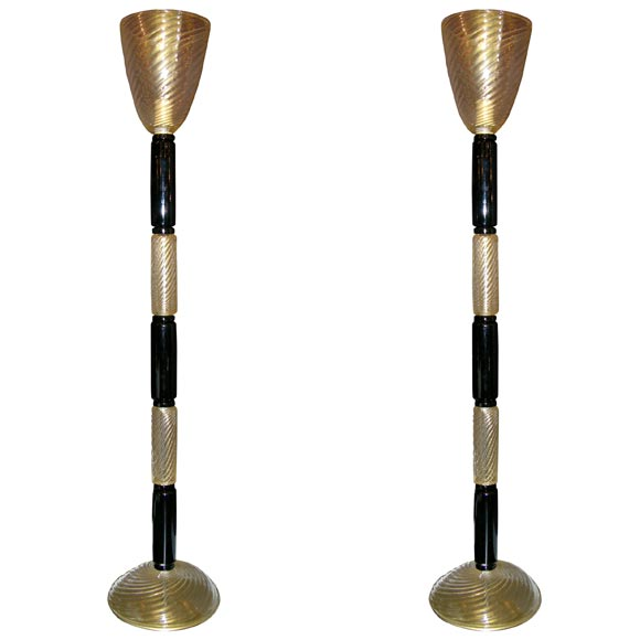 this pair of gold and black barovier e toso floor lamps is no longer. Black Bedroom Furniture Sets. Home Design Ideas