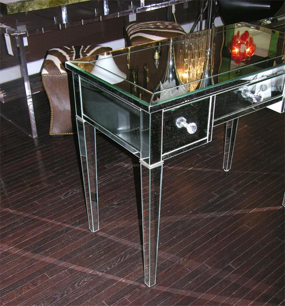 American Classic Modern Mirrored Desk For Sale