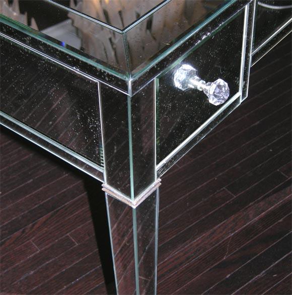 Classic Modern Mirrored Desk For Sale 2