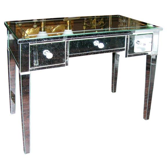 Custom Mirrored Desk For Sale At 1stdibs