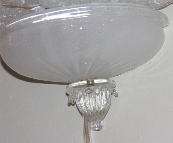 Venetian Glass Wall Lights : Pair of Venetian Glass Sconces at 1stdibs