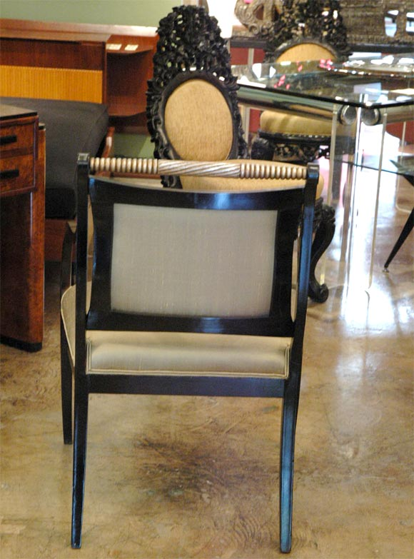 Silver Cerused Oak Dining Room Set
