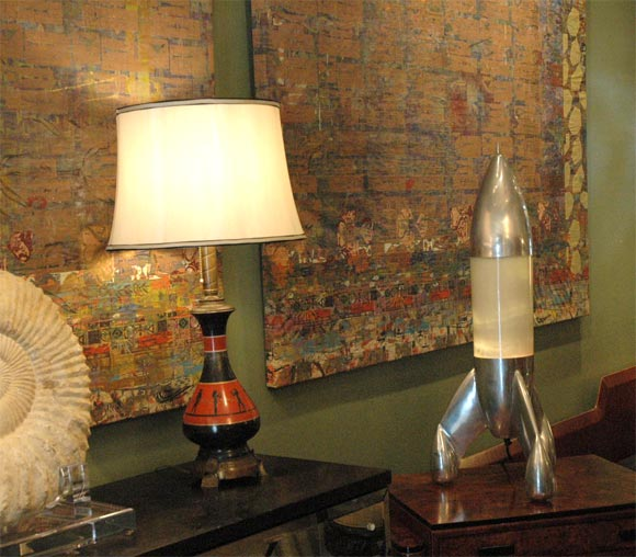 VINTAGE ROCKET LAMP at 1stdibs