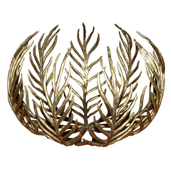 """Palmes"" Contemporary Gilt Bronze Coupe by Hervé van der Straeten"