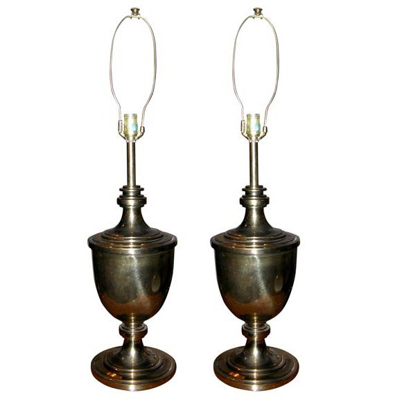 Pair of Classical Urn Form Table Lamps by Stiffel For Sale