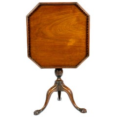 Mahogany Occasional Table with Octagonal Galleried Top