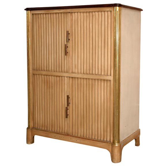 Kitchen Cabinets With Curtains Instead Of Doors: 30's French Wood Cabinet With Curtain Doors At 1stdibs