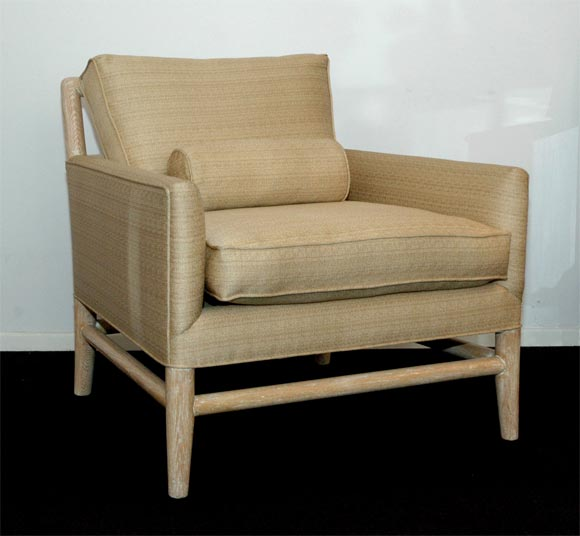 A Pair Of Cerused Oak Armchairs From The Randolph Scott