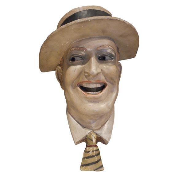 Plaster Head of Maurice Chevalier