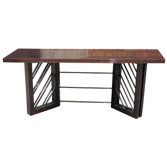 A 1940 39 s modernist console that converts to dining table at 1stdibs - Console table that converts to dining table ...