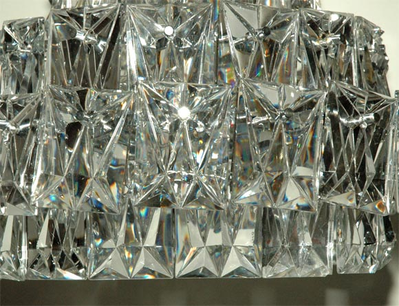 Chrome And Glass Chandelier At 1stdibs