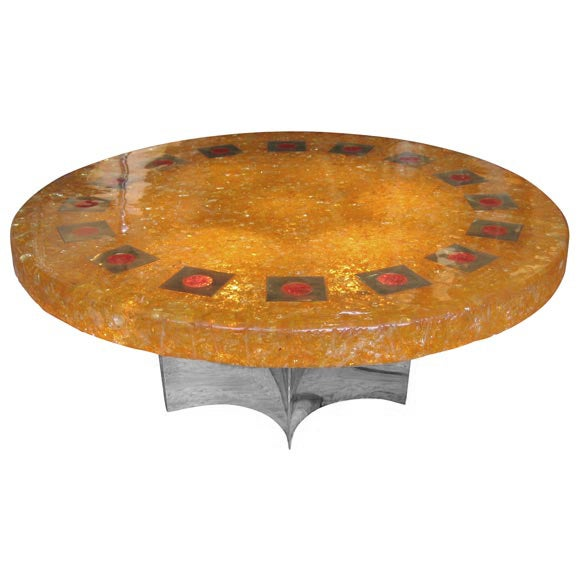 Faye toogood element table - Orange Round Coffee Table At 1stdibs