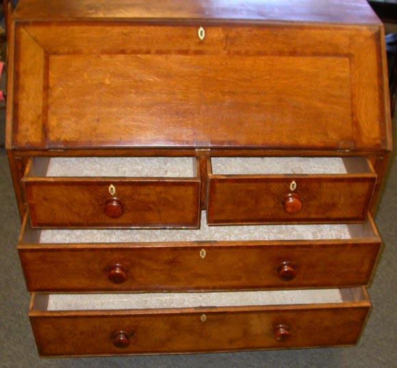 Period oak slant top desk at stdibs