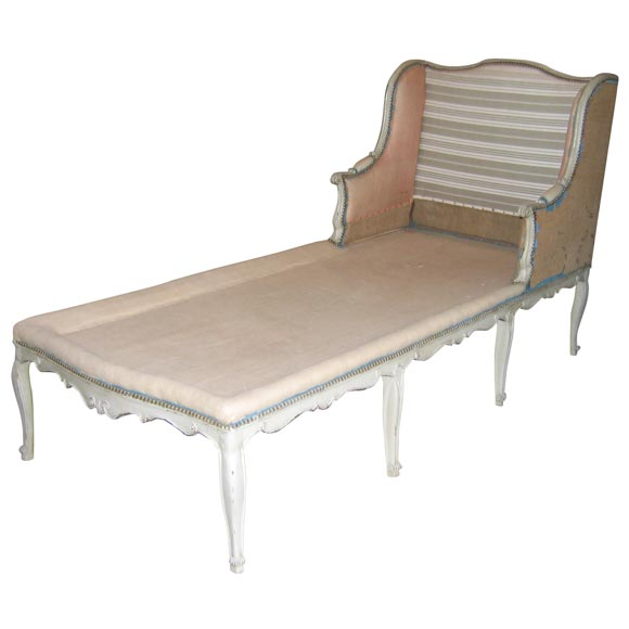 Original louis xv chaise longue day bed at 1stdibs for Chaise longue day bed