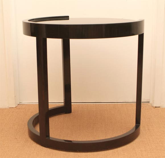 This antique french cherry side table is no longer available - Paul Laszlo Circular Lamp Table At 1stdibs
