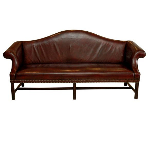 Chippendale Leather Sofa At 1stdibs