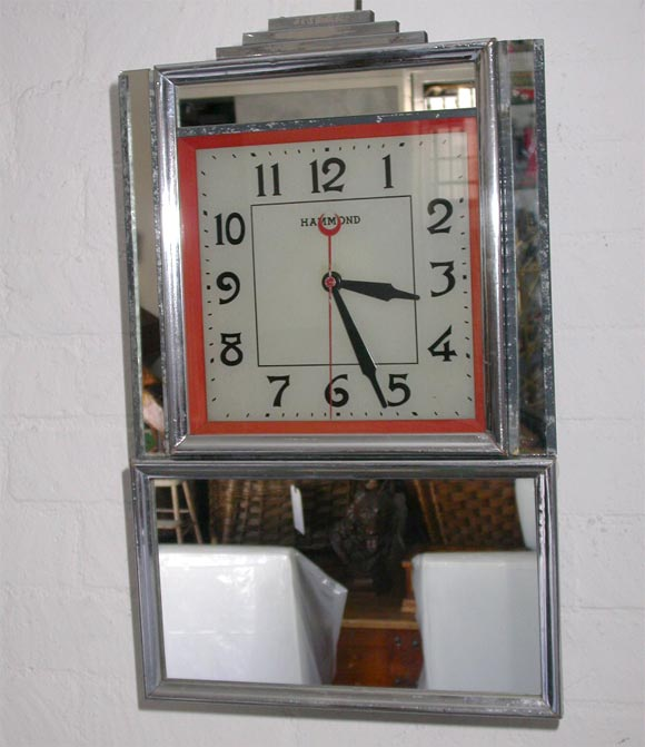 deco electric wall clock for sale at 1stdibs