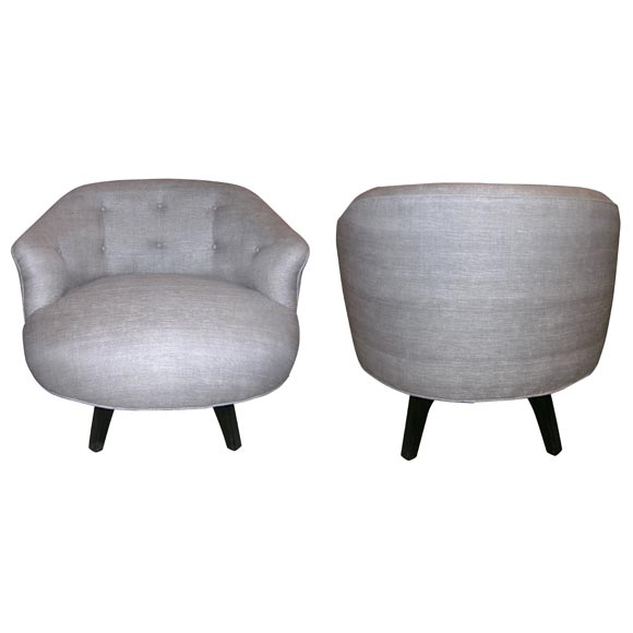 Low Swivel Lounge Chairs at 1stdibs