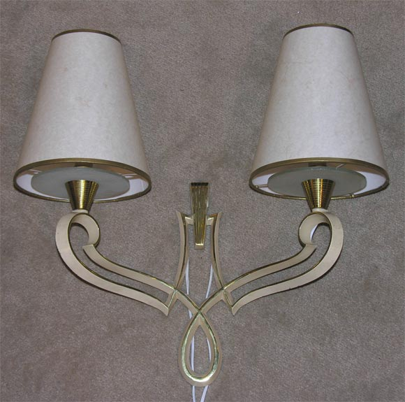 Pair of 40 s Sconces without shades at 1stdibs