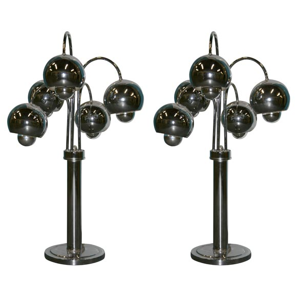1960 S Chrome Ball Table Lamps At 1stdibs