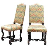 Fine Pair of 17th Century Italian Baroque Carved Chairs