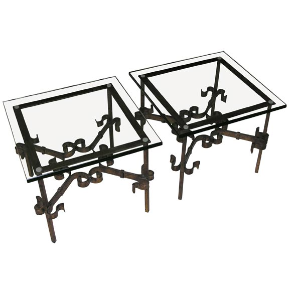 for Wrought iron and glass side tables
