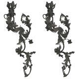 Pair of large-scale 18th century sconces