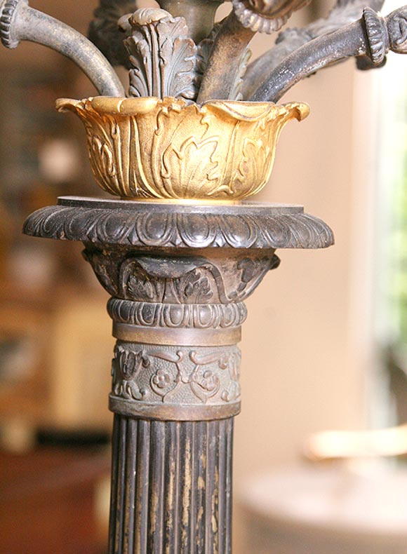 19th c napoleon iii bronze candlesticks at 1stdibs for Empire antiques new orleans