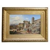 Italian Village Scene by Frederik Sommer