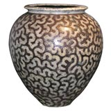 Fine and Large Contemporary Ceramic Urn by Per Weiss