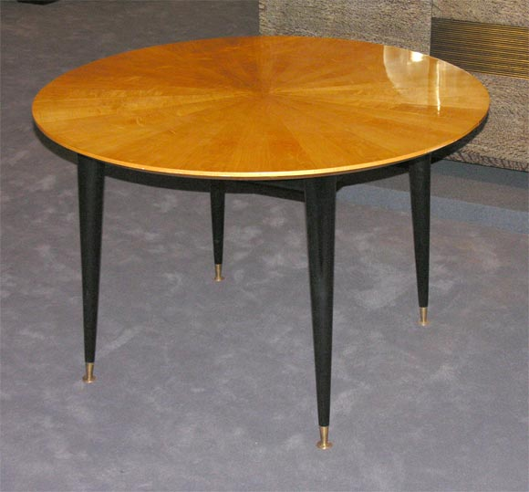 Round Extension Sycamore Dining Table at 1stdibs