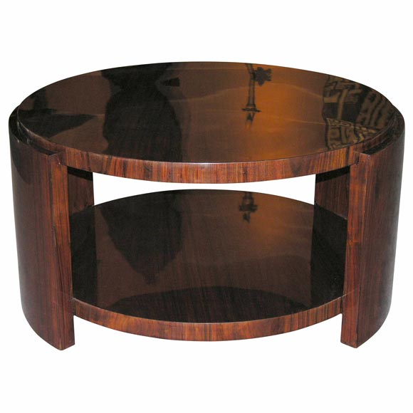 Large Round Mahogany Two Tier Coffee Table At 1stdibs