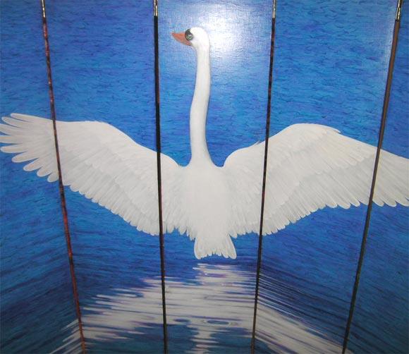 American Swan Screen by Lynn Curlee For Sale