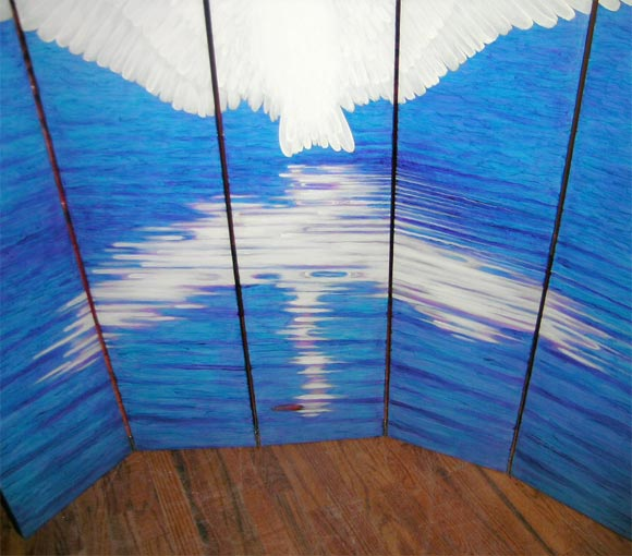 20th Century Swan Screen by Lynn Curlee For Sale