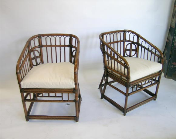 A Pair of Bamboo Marshall Fields 1950s Arm Chairs at 1stdibs