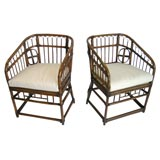 A Pair of Bamboo Marshall Fields 1950s Arm Chairs