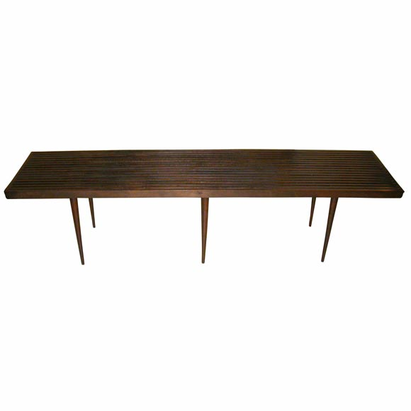 Slatted Coffee Table Bench At 1stdibs