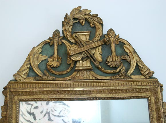 French Gilded Mirror For Sale
