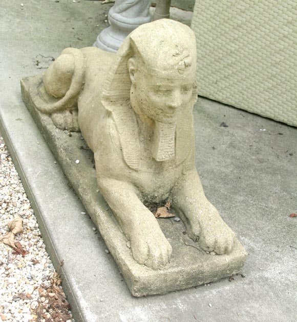 Great Pair Of Concrete Garden Sphinx 2