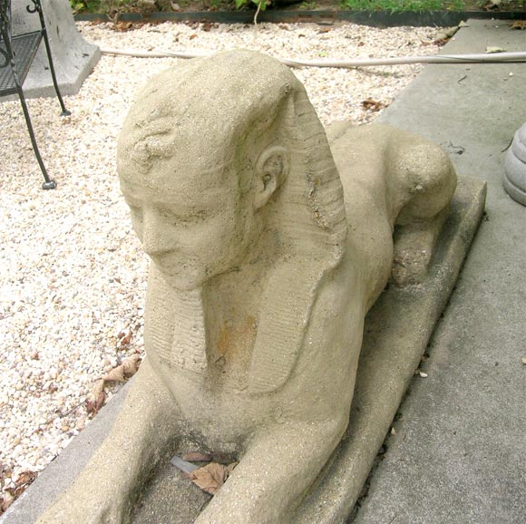 Pair Of Concrete Garden Sphinx 3